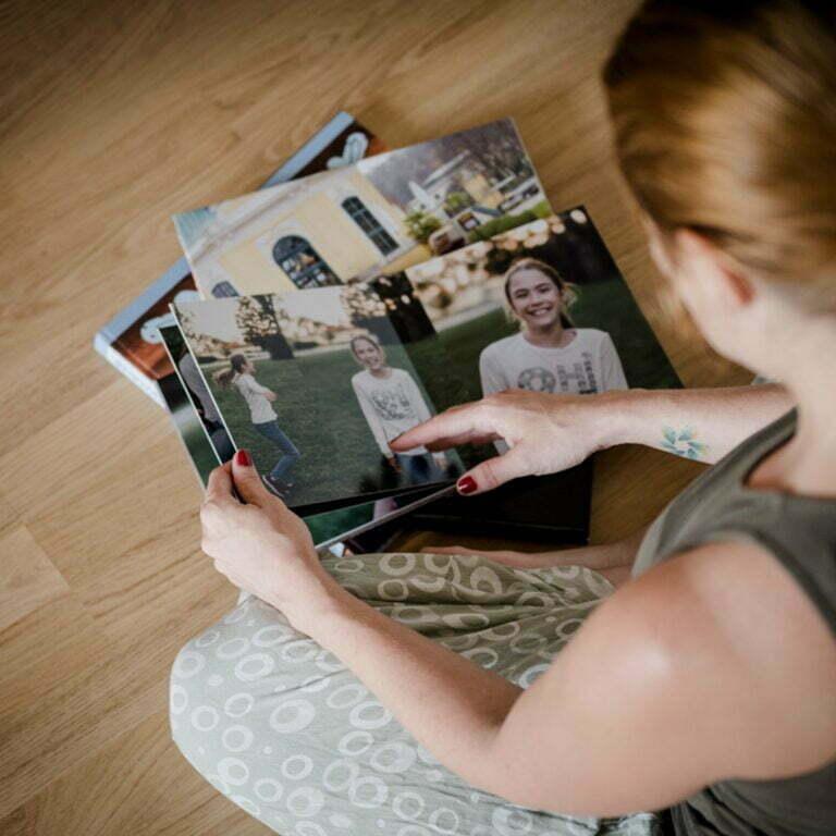 Miriam blitzt Fotobuch